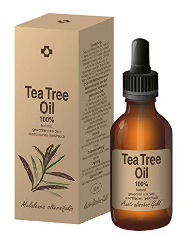 Ovonex Teebaumöl   Essential Tea Tree Oil - 100% Naturrein, Australisches Teebaumoel (50ml) für gesunde Haut&Körper, Akne-Behandlung, Ideal gegen unreine Haut, Entzündungshemmend, Antibakteriell