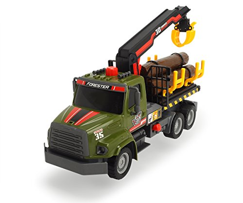 (Dickie Toys 203806001 - Air Pump Forester, Holztransporter, 32 cm)