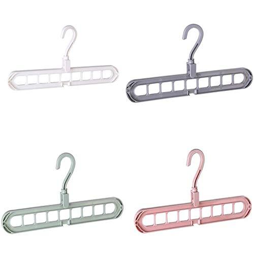 Maleya 5-Loch Magic Belt Griff 360 ° drehbarer Kleiderbügel Haken PP verdicken Kleidungsaufbewahrung Kleiderbügel Kleidung 9-Loch Handtuchhaken Closet Organizer Kunststoff Lagerregal -