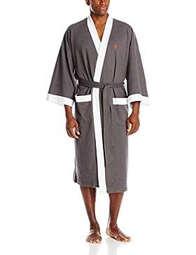 Amabubblezing Bata de los Hombres, Cotton Terry Kimono Albornoz más el tamaño de la Bata de Dormir Suave Vestido...
