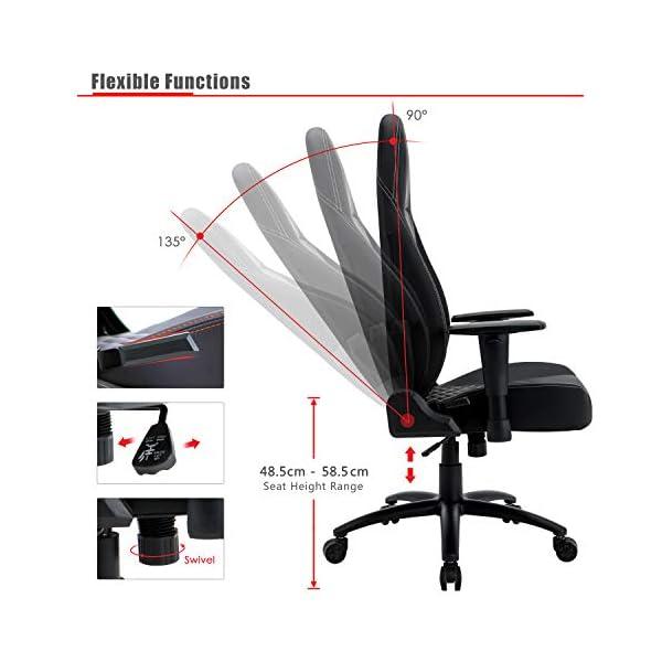 Intimate WM – Silla ergonómica para Videojuegos, Ajustable, Profesional, de Piel, con Capacidad de 150 kg