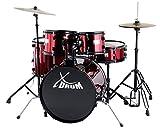 Rookie XDrum 20 'batteria da studio completa Rosso Rubino