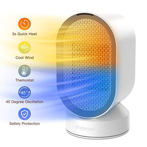 Dodocool Mini Ventilador Eléctrico/Calefactor