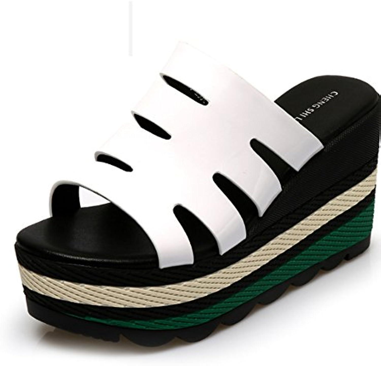 Confortevole Pantofole estive piatte con pantofole Pantofole frossodi spesse spesse spesse con toppe Pantofole basse allentate... | Prestazione eccellente  ebeb65