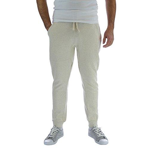 Pantaloni da corsa leggera da uomo, con onice nero picchiettato Harem Skinny Pants Slim Fit, pantaloni da Jogging ecru medium