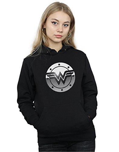 DC Comics Damen Wonder Woman Spot Logo Kapuzenpullover Medium Schwarz