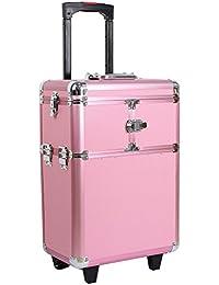 HBF Maletin Para Maquillaje Organizador De Cosméticos Profesional Rosa
