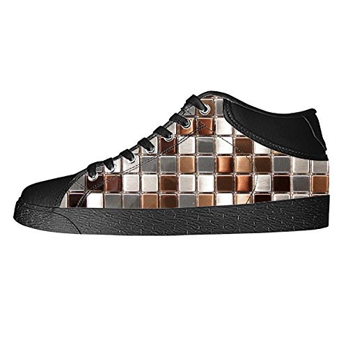 Dalliy Glas Mosaik Fliesen Textur Women's Canvas shoes Schuhe Lace-up High-top Footwear Sneakers