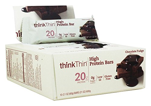 ThinkThin, High Protein Bar, Chocolate Fudge, 10 Bars, 2.1 oz (60 g) Each -