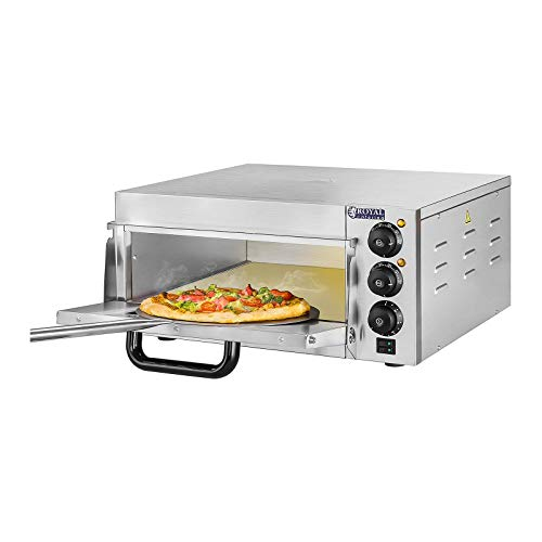 Royal Catering - RCPO-2000-1PE - Horno para pizza - 1 compartimiento - 2000 W