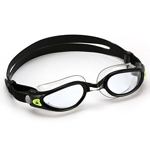 Aqua Sphere Kaiman Exo Schwimmbrille, Lens-Black/Clear, Regular Fit