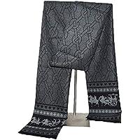 Scarves PNX 2018 Fashion Design Men's Winter Cashmere Scarf Men Luxury Brand Neckerchief Winter Warm Soft Shawls Wraps