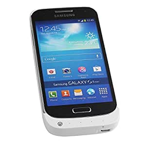 2600mAh External Battery Backup Charger Case for SAMSUNG GALAXY S4 Mini i9190 (White)