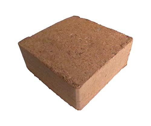 Kokosfaserziegel 5x 70 Liter, ca. 5kg je Ziegel (EUR 0,12 je Liter), Humusziegel, Kokosziegel, torffreie Anzuchterde, Kokosquellerde aus gepresster Kokosfaser
