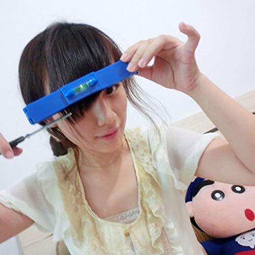 VPlus, 1 righello professionale da donna per tagliare i capelli fai da te, strumento di livello, forbici per frangia, tagliacapelli fai da te