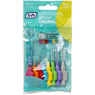 TePe Interdental Brushes Original Mixed Pack with Sizes 0.4-1.5mm/ Simple and Effective Cleaning of Interdental Spaces/ 1 X 8 Brushes