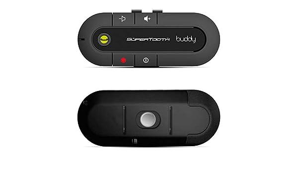 Bianco SuperTooth Buddy Kit Vivavoce Bluetooth 2.1 con Supporto auto per Smartphone
