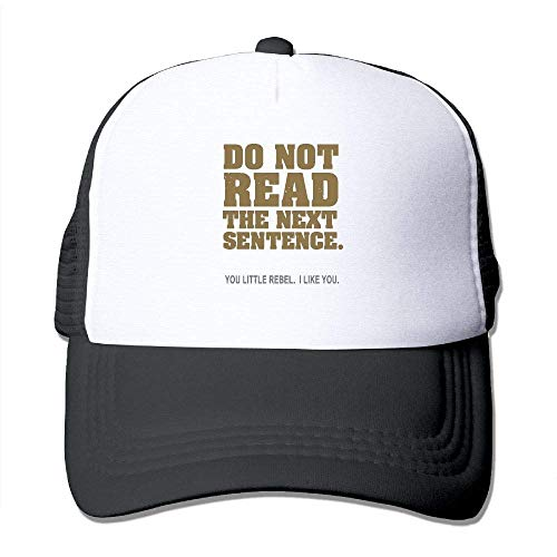 Do Not Read The Next Sentence Youth Mesh Baseball Cap Summer Adjustable Trucker Hat (Blue Power Cap Newsboy)