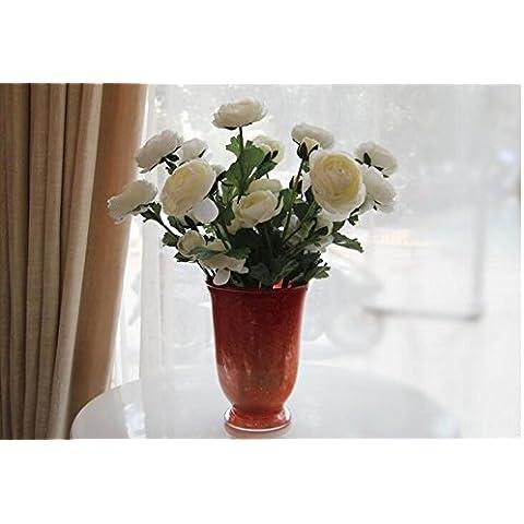 Natale ornamenti Home Arte della decorazione di simulazione artificiale Fiori Flora per feste di matrimonio e di ringraziamento dono Camellia Rose