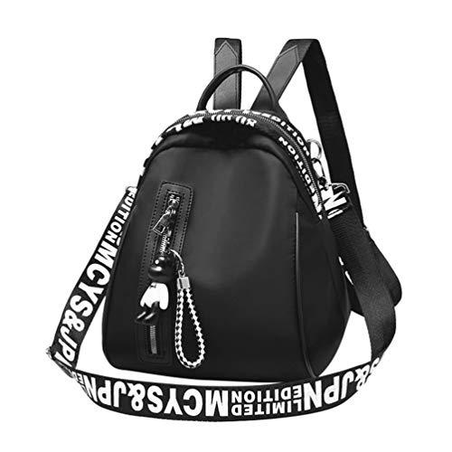 YAANCUN Damen Kleinen Rucksack Vintage Oxford Tuch Schultasche Daypacks Outdoor Umhängetasch