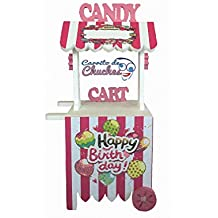 CANDY CART HAPPY BIRTHDAY ROSA. Para decorar. Medidas 132cms(alto)X56cms (