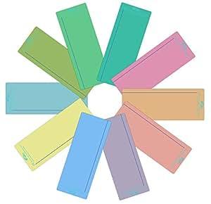 Crossbow Education Plain Window Reading Ruler - Multi-Colour (Pack of 10)