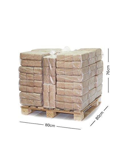 Palet de 30 bolsas de 6 briquetas por bolsa (300kg)
