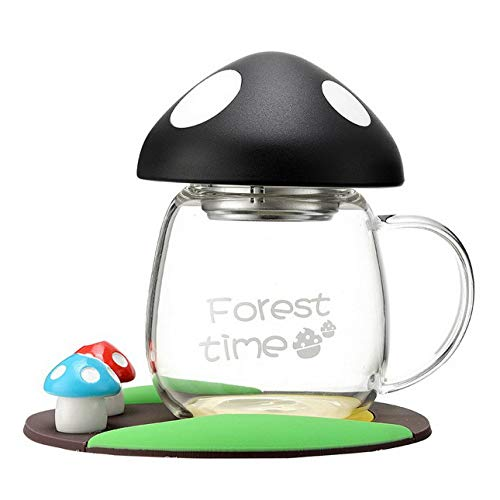 Ballylelly Kreativer Trend Glas niedlich super süß Pilzschale tragbare Handschale