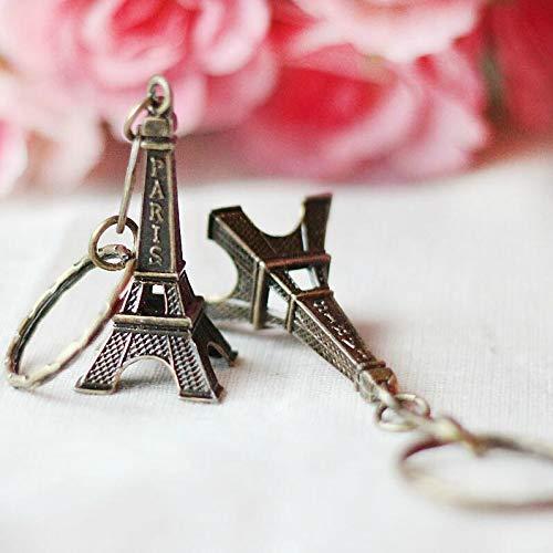 TUDUDU 2018 Clef Retro Mini Decoration Eiffel Tower Keychain Paris Tour Kette Holder Ring Bag Charm Pendant Geschenke Für Frauen