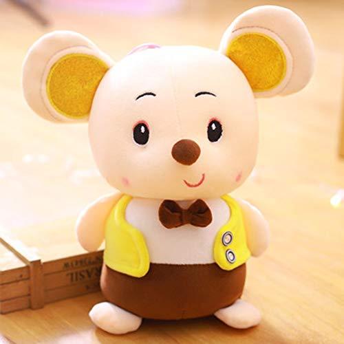 HUOQILIN Plüschtier Fetter Hamster Süße Maus Puppe Kissen Geschenkpuppe (Color : Yellow, Size : 30cm) (Yellow Birds Angry Bird-namen)
