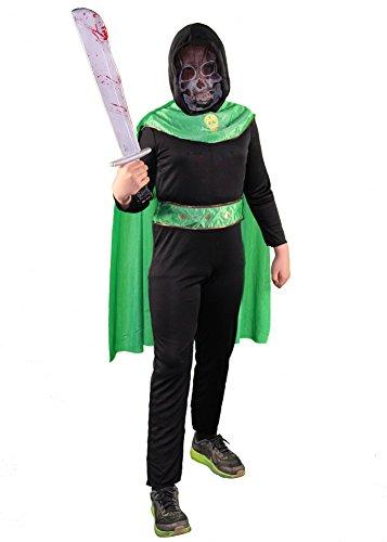 Foxxeo 40228 I Skelettkrieger Jungen Seelenfänger Gevatter Tod Kämpfer Krieger Halloween, (Krieger Tod Kinder Kostüme)