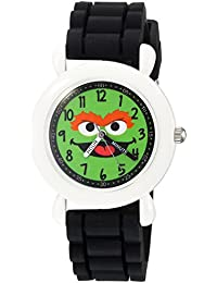 eWatchFactory Boy's 'Sesame Street' Quartz Plastic and Silicone Casual Watch, Color:Black (Model: WSS000034)