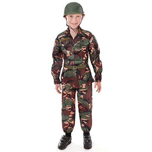 Bristol Novelty Soldier Kostüm (L) Alter - Kostüm Soldat Kinder