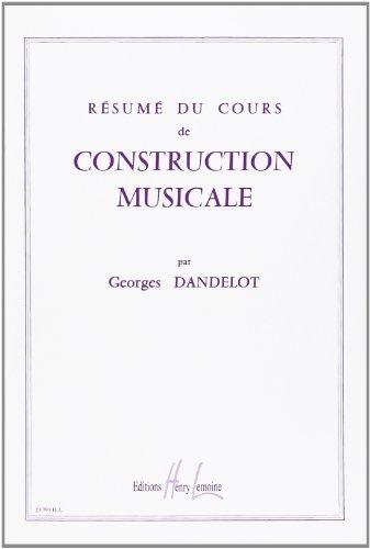 Résumé du cours de construction musicale - Lemoine