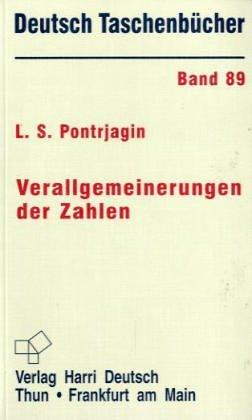Buchcover: Deutsch Taschenbücher, Nr.89, Verallgemeinerung der Zahlen