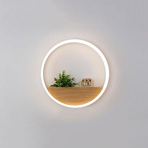 Kupfer Wand Schatten (Moderne Simple Circular LED Grün Pflanze Deko Wand Lamp Kreatives warmes Schlafzimmer Bedside Esszimmer Wohnzimmer Eingang Tür Wandleuchte 13W / 25W ( design : Groß ))