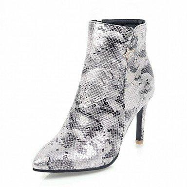 Rtry Femmes Chaussures Pu Leatherette Automne Hiver Confort Nouveauté Mode Bottes Bottes Talon Stiletto Toe Booties / Zipper Cheville Bottes Pour Us8.5 / Eu39 / Uk6.5 / Cn40