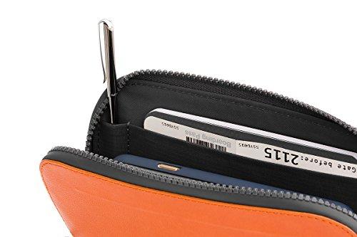 Bellroy Geldbörse All Conditions Essentials Pocket, Farbe: Blue - Woven Burnt Orange