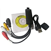 Easyday Easycap DC60USB 2.0Audio Video Grabber convertidor Tarjeta de Captura Compatible con Windows 7/8/10