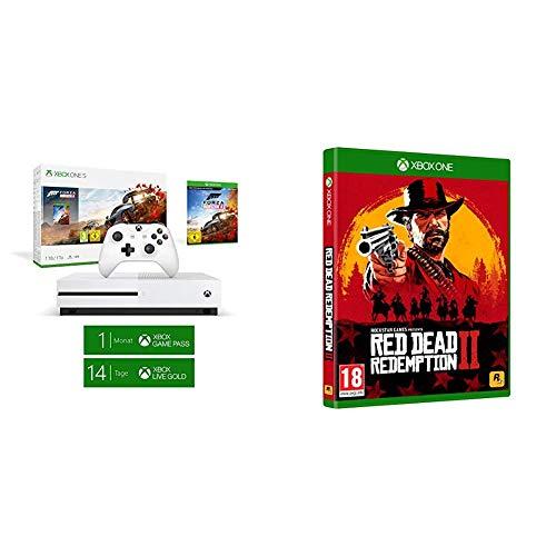 Microsoft Xbox One S - Consola 1 TB + Forza Horizon 4 + Red Dead Redemption 2 (Xbox One)