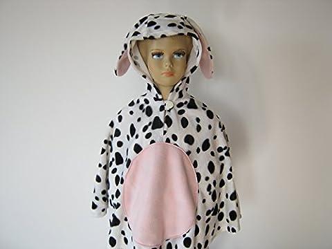 fasching karneval halloween kostüm cape für kleinkinder aus fellimitat hund dalmatiner (Dalmatiner-kostüm Für Kleinkind)
