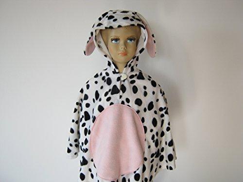 fasching karneval halloween kostüm cape für kleinkinder aus fellimitat hund dalmatiner