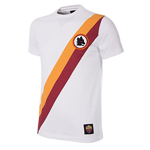 AS Roma Away Retro Camiseta - Blanco (L)