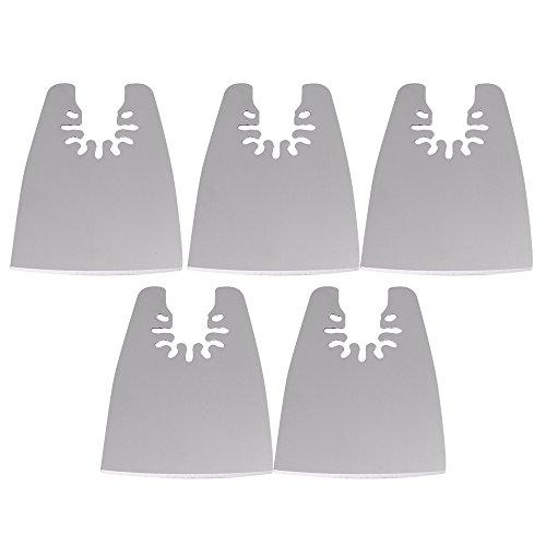 5x 52mm Schnellspanner Edelstahl Flach Messer EDGE SCRAPER oszillierendes Multifunktions-Werkzeug für Bosch Fein Black & Decker