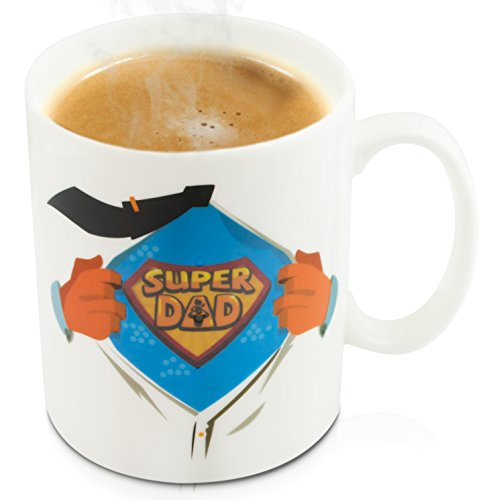 Kostüm Super Dad - Keramik Tasse mit Animiertem Thermoeffekt -