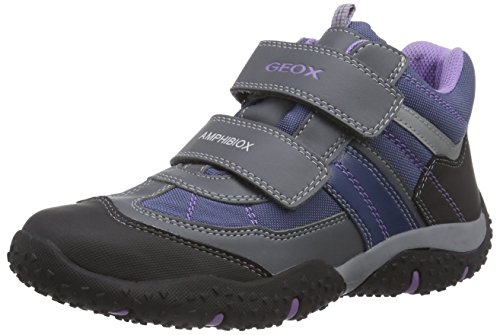 Geox J BALTIC G. WP A, Baskets pour fille Multicolore Mehrfarbig (C9275DK GREY/LILAC) Taille 40