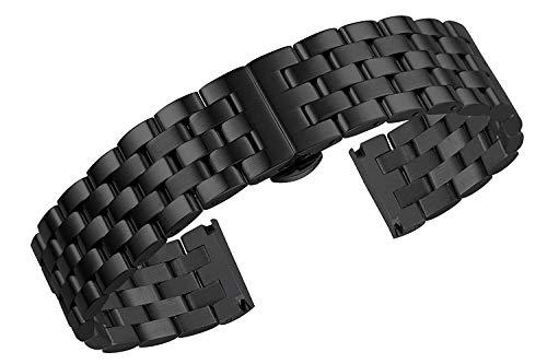 MACUH Home 20mm jubiläumsstil schwarz solide INOX Metall Armband ersatzteile uniflow schwere Art Edelstahl gerade