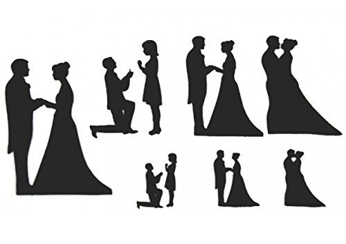 Patchwork Cutters - Wedding Silhouette Set by Patchwork Cutters