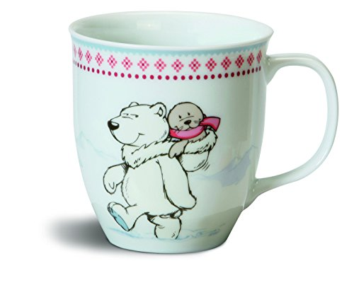 Nici-N34775-White-World-taza-95-x-10-cm-diseo-de-oso-polar-y-foca-color-blanco