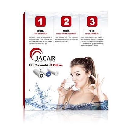 Jacar – Paquete de 3 filtros de osmosis